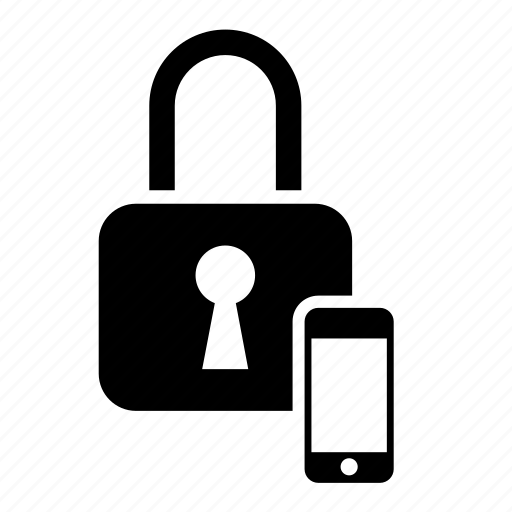 iphone, lock, padlock, phone, safe, security, smartphone icon