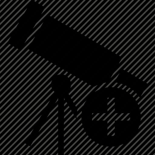 add, create, new, plus, telescope icon