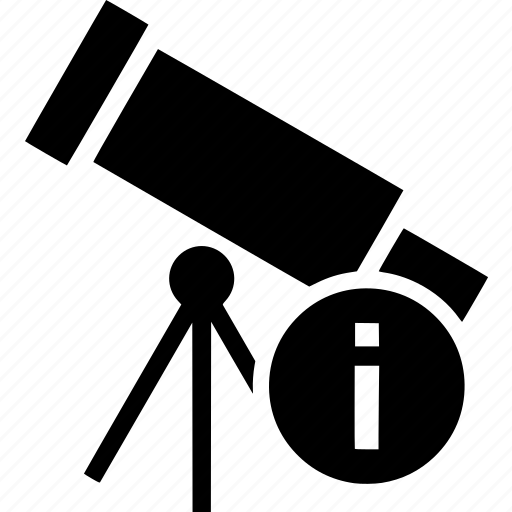 astronomy, info, information, support, telescope icon