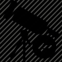 arrow, direction, left, pointer, telescope icon