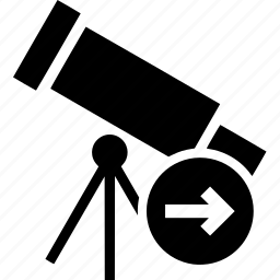 arrow, arrows, next, right, telescope icon