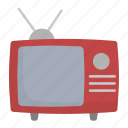 television, electronic, vintage, tv