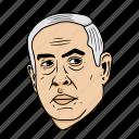 benjamin, israel, middle east, netanyahu, president, world leader icon