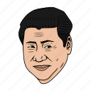 asia, china, jinping, president, xi icon