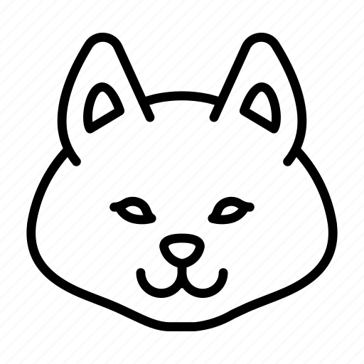 Animal, dog, domestic, pet, puppy, shiba inu icon - Download on Iconfinder