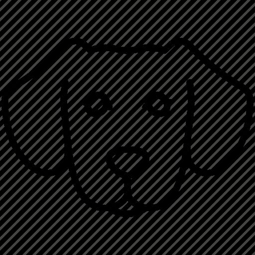 Animal, dog, domestic, pet, puppy, weimaraner icon - Download on Iconfinder