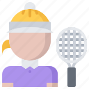 match, player, racket, sport, tennis, woman icon