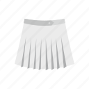 cloth, fashion, female, front, skirt, t-shirt, tennis icon