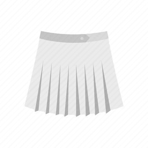 Cloth, fashion, female, front, skirt, t-shirt, tennis icon - Download on Iconfinder