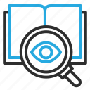 book, find, learn, read, research icon