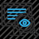 analyze, desktop, find, monitor, pc, scan, view icon