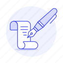 calligraphy, fountain, handwriting, ink, paper, parchment, pen, sheet, text, writing icon