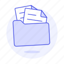 doc, documents, folder, folders, in, paper, sheet, text icon