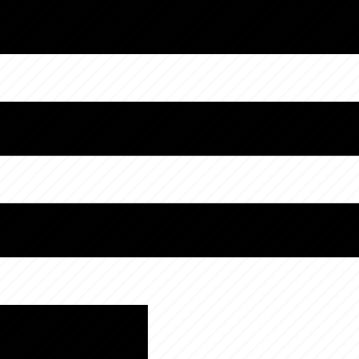 align, alignment, format, formatting, justify, left, text icon