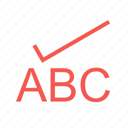 abc, check, review, spell, spelling, translation, word icon