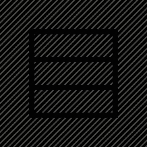 horizontal, lines, text icon