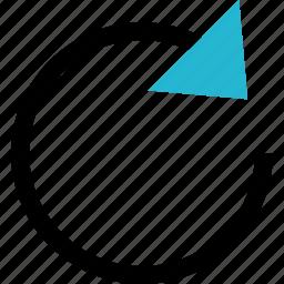 arrow, loop, looped, looping icon
