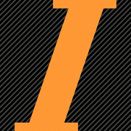 italics, letter, slant, text icon