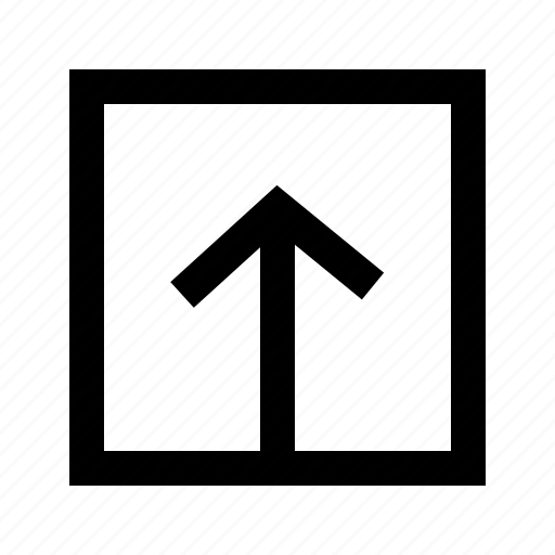 arrow, box, document, file, text, upload icon