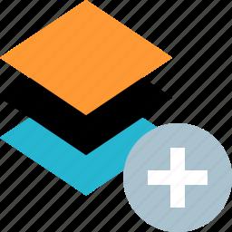 add, layers, tool, window icon