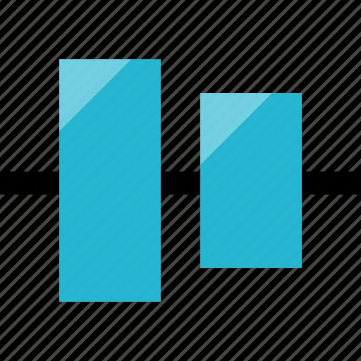 align, horizontal, layers icon