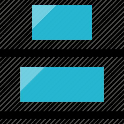 align, bottom, center icon