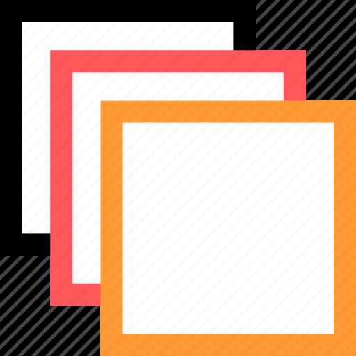 copy, duplicate, layers, paste icon