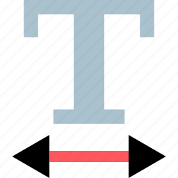 arrow, bold, expand, text icon