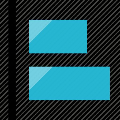 align, layers, left icon