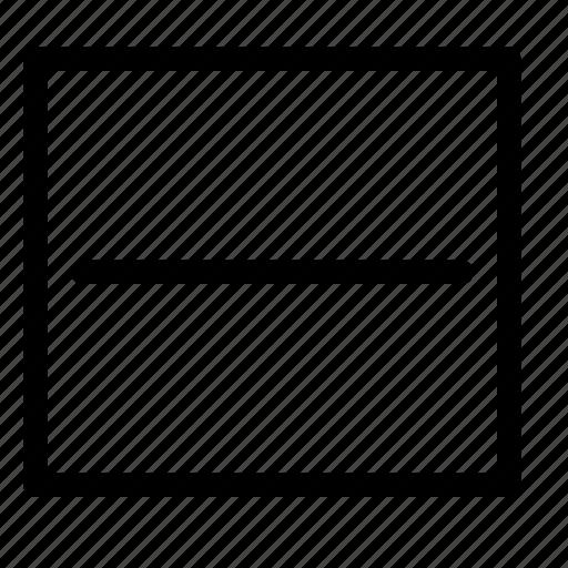 horizontal, split, text icon