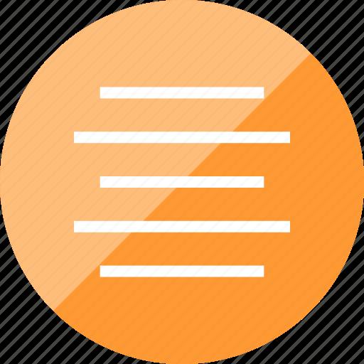 align, center, menu, paragraph icon
