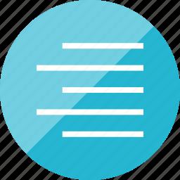 align, layers, right icon