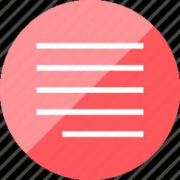 align, menu, right, text icon