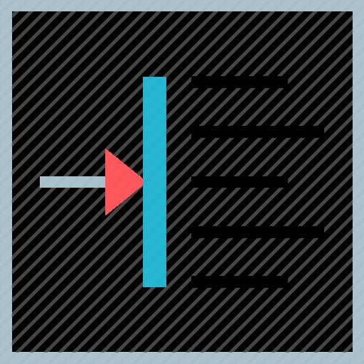 arrow, in, right, shift icon