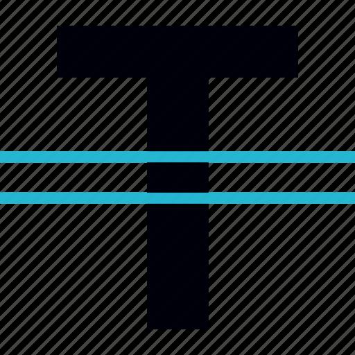 double, line, stroke, text icon