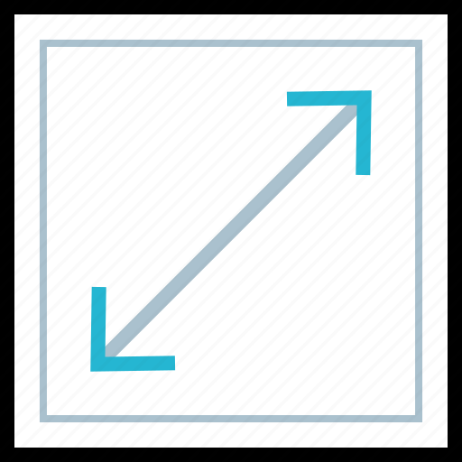 arrow, expand, extend, point icon