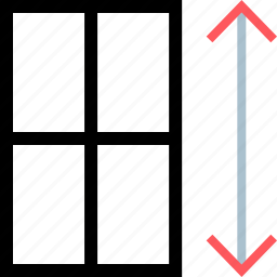 arrows, expand, extend, scale icon