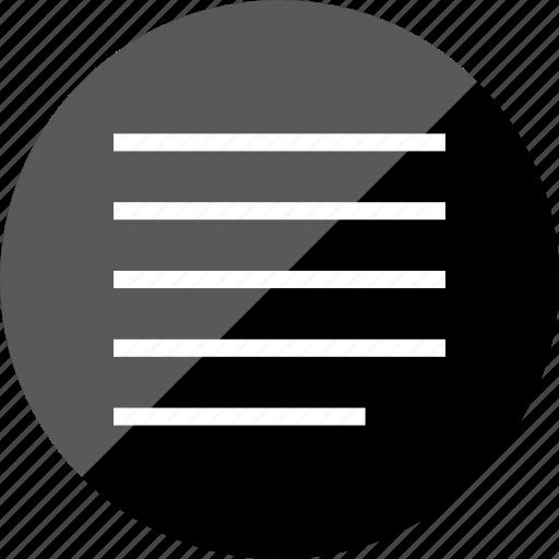 align, left, paragraph icon