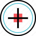 cursor, goal, point, target icon