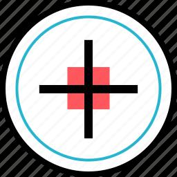 cursor, goal, point, target icon