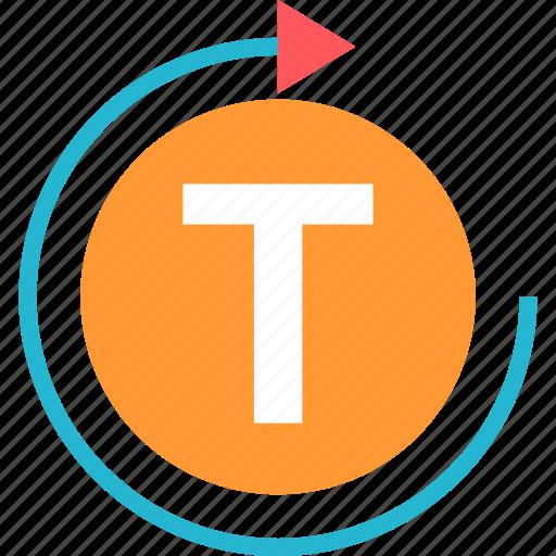 editor, refresh, round, text icon