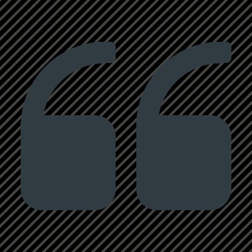quote, text, type icon