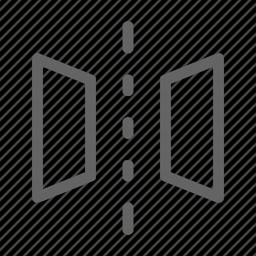 flip, horizontal, horizontally, mirror icon