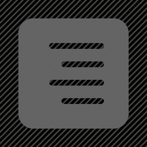 align, alignment, paragraph, right icon