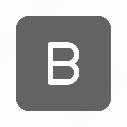 bold, letter, text, type icon