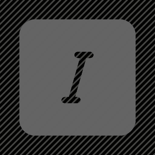 italic, letter, text, type icon