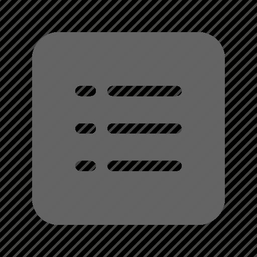 label, list, option, text icon