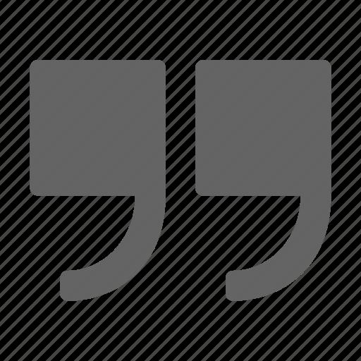 mark, quotation, quote, speech icon