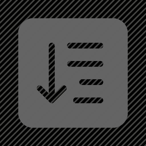 align, list, order, sort icon