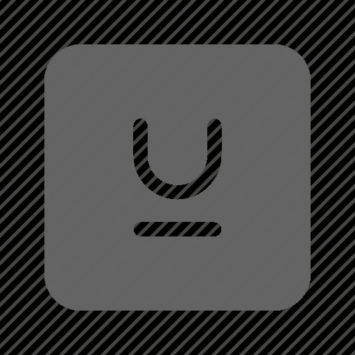 line, mark, text, underline icon